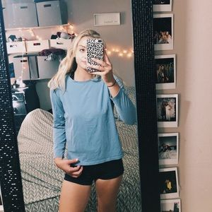 TALBOTS blue long sleeve M